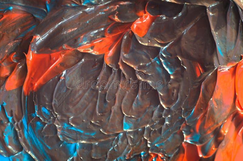 Fondo grabado en relieve de la turquesa y de la naranja mezcladas Con la reflexión del sol fotos de archivo