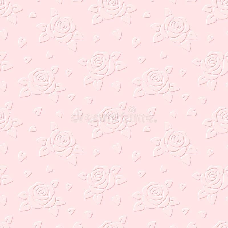 Download Fondo Grabado En Relieve Inconsútil Con Las Rosas Ilustración Del Vector Ilustración del Vector - Ilustración de adornado, fondo: 41909588