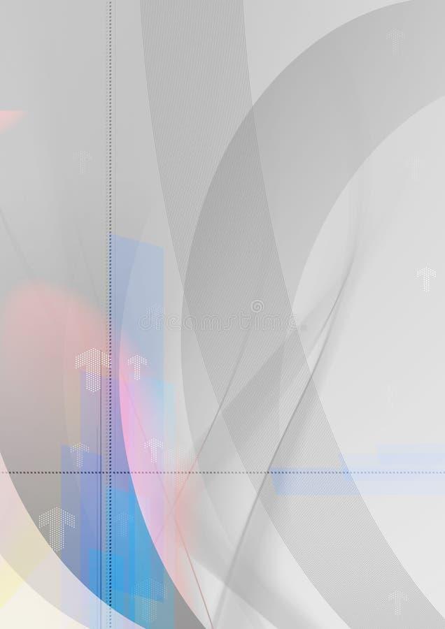 Fondo grafico della freccia astratta - struttura grigia - fondo astratto di tecnologia illustrazione vettoriale