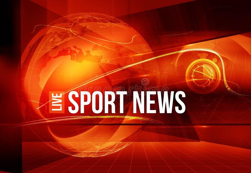 Fondo grafico di notizie di sport con testo e curve intorno a terra royalty illustrazione gratis