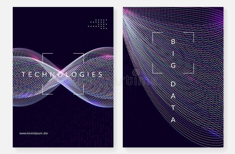 Fondo grande de los datos Tecnología para la visualización, artificial adentro stock de ilustración