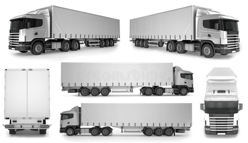 fondo grande del camión de 6 x - maqueta en blanco para el marcado en caliente del diseño stock de ilustración