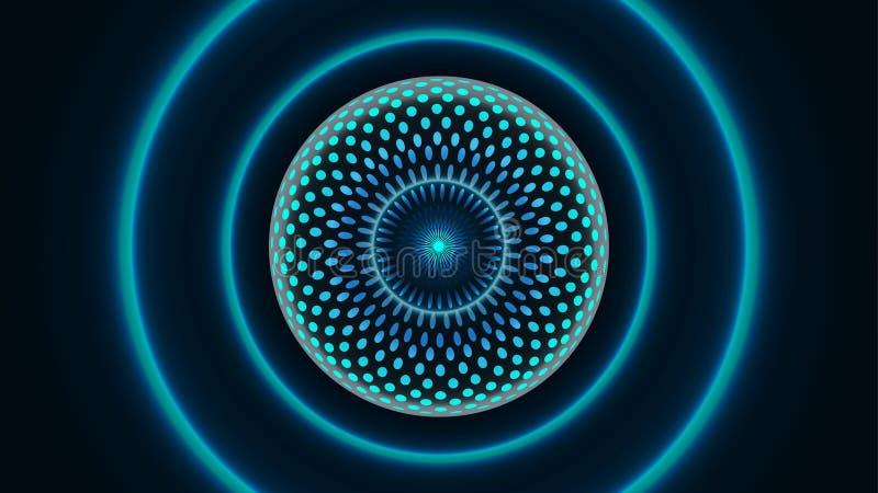 Fondo grande molecular abstracto de la tecnología de los datos libre illustration