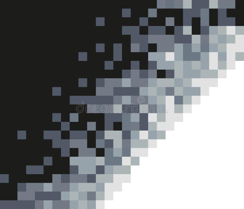 Fondo Greyscale del mosaico Modelo abstracto ilustración del vector