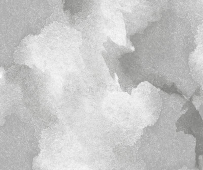 Fondo grigio astratto dell'acquerello fotografia stock libera da diritti