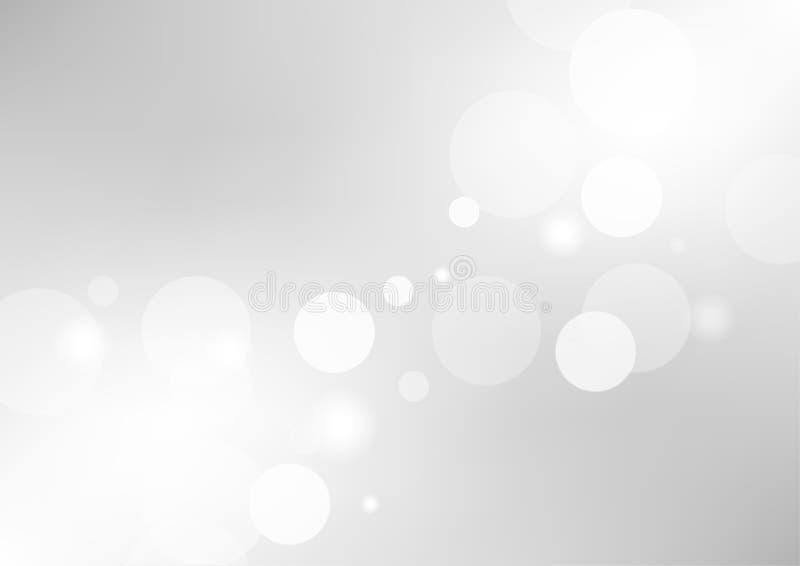 Fondo grigio astratto di pendenza con una sfuocatura molle della luce bianca royalty illustrazione gratis