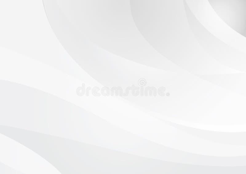 Fondo grigio astratto ondulato Vettore illustrazione vettoriale
