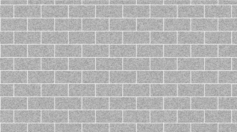 Fondo grigio chiaro dell'estratto del muro di mattoni Struttura dei mattoni Illustrazione di vettore royalty illustrazione gratis