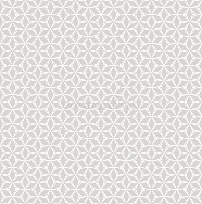Fondo grigio chiaro e bianco senza cuciture del modello di vettore sottile, del mosaico illustrazione di stock