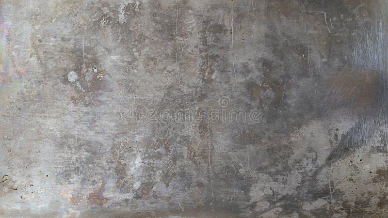 Fondo grigio del metallo nello stile di lerciume fotografie stock libere da diritti