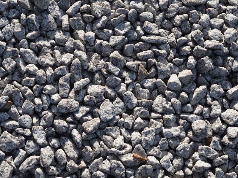 Fondo grigio della ghiaia - piccole pietre Aggregato di pietra immagine stock libera da diritti
