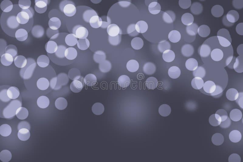 Fondo grigio della luce dell'estratto del bokeh fotografia stock