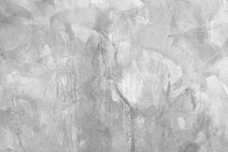 Fondo grigio di struttura della parete del cemento, vecchia struttura grungy Frammento della parete con i graffi e le crepe Strut immagine stock libera da diritti