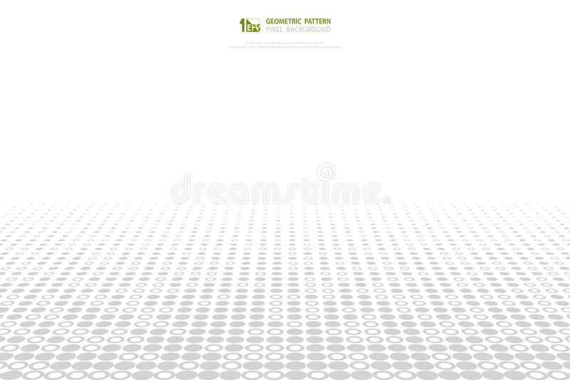 Fondo grigio e bianco astratto della copertura del modello del pixel del cerchio Vettore eps10 dell'illustrazione illustrazione vettoriale