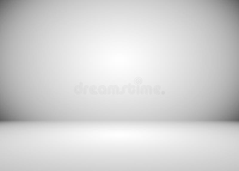 Fondo grigio e bianco della stanza di pendenza illustrazione di stock