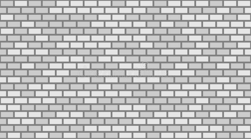 Fondo grigio e bianco di vettore del muro di mattoni Muratura urbana di vecchia struttura Carta da parati d'annata del blocchetto illustrazione vettoriale