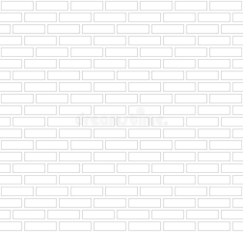 Fondo grigio e bianco di vettore del profilo del confine del muro di mattoni Muratura urbana di vecchia struttura Carta da parati illustrazione di stock