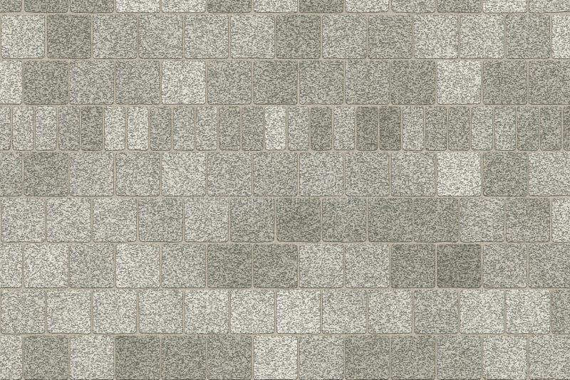 Fondo grigio monocromatico dell'estratto del muro di mattoni Struttura dei mattoni Progettazione del modello per le insegne di we illustrazione di stock