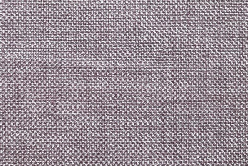 Fondo grigio scuro del tessuto con il modello a quadretti, primo piano Struttura della macro del tessuto fotografia stock libera da diritti