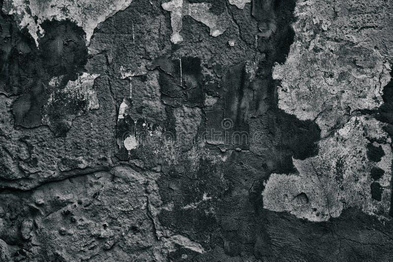 Fondo grigio scuro di lerciume del muro di cemento stagionato fotografie stock