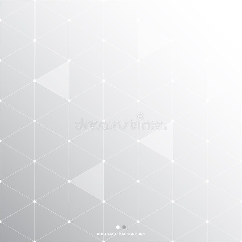 Fondo gris blanco abstracto del polígono, ejemplo del vector libre illustration