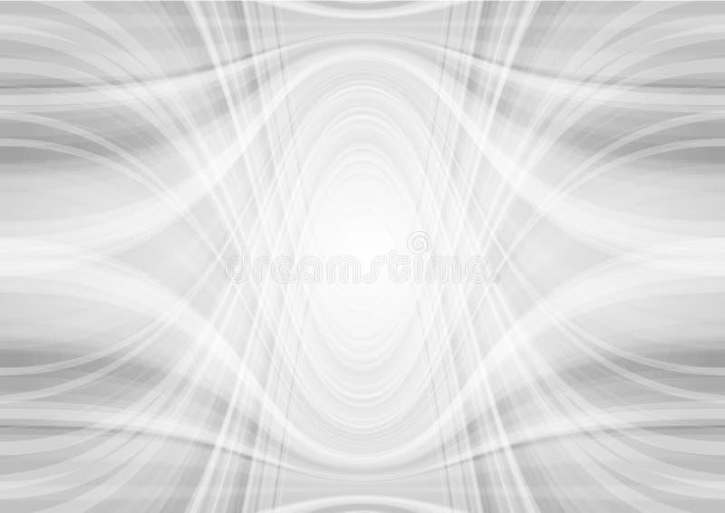 Fondo gris claro abstracto del modelo ondulado de la tecnología ilustración del vector