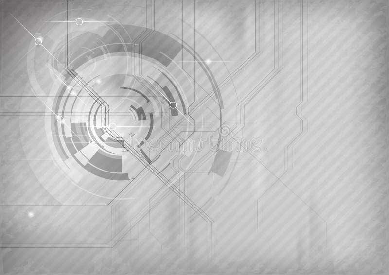 Fondo gris de la tecnología ilustración del vector