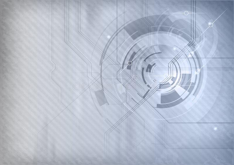 Fondo gris de la tecnología libre illustration