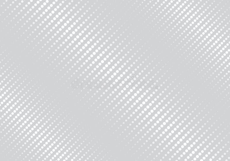 Fondo gris del color de la textura de semitono oblicua geométrica blanca abstracta de las rayas libre illustration
