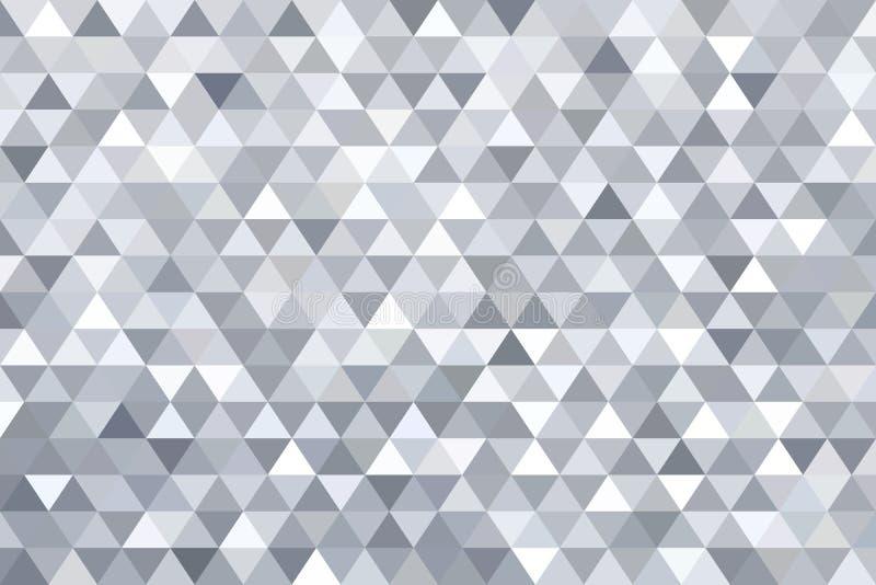 Fondo gris del extracto del triángulo ilustración del vector