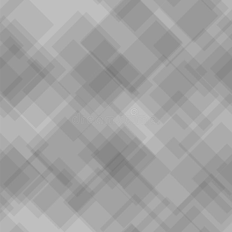 Fondo gris Modelo futurista inconsútil diagonal ilustración del vector