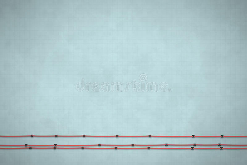 Fondo gris texturizado con el cable Concepto mínimo Ejemplo plano de la endecha 3D ilustración del vector