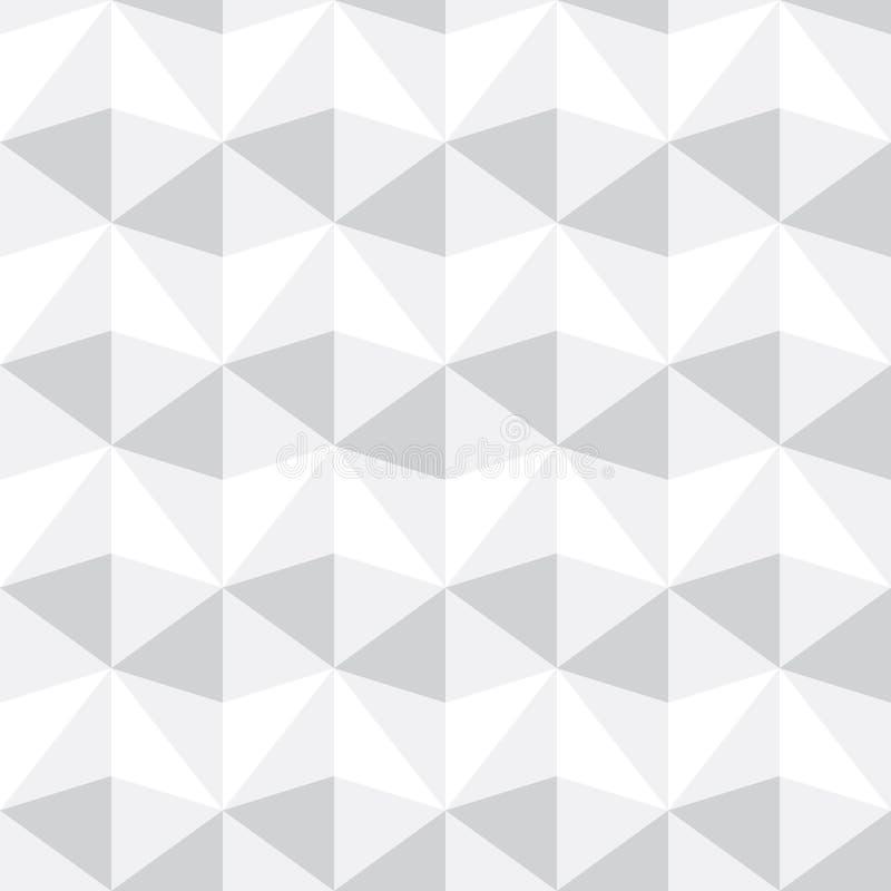 Fondo gris y blanco abstracto inconsútil del modelo del triángulo, VE fotos de archivo libres de regalías