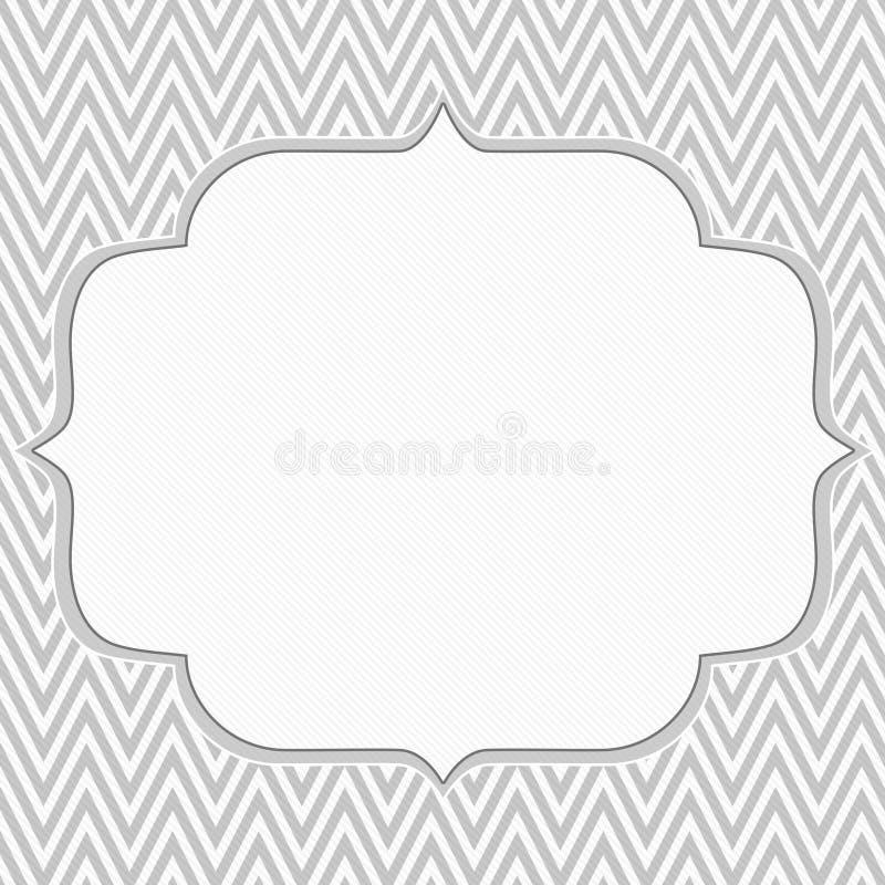 Fondo gris y blanco del marco del zigzag de Chevron ilustración del vector