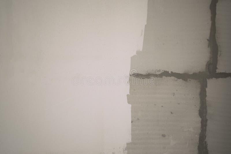 Fondo gris y blanco del muro de cemento del extracto del bloque de la pared de la textura fotos de archivo