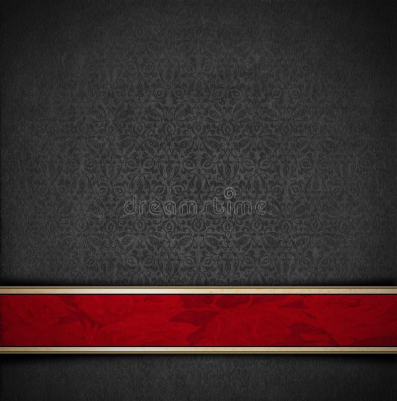 Fondo gris y rojo floral de lujo del terciopelo libre illustration