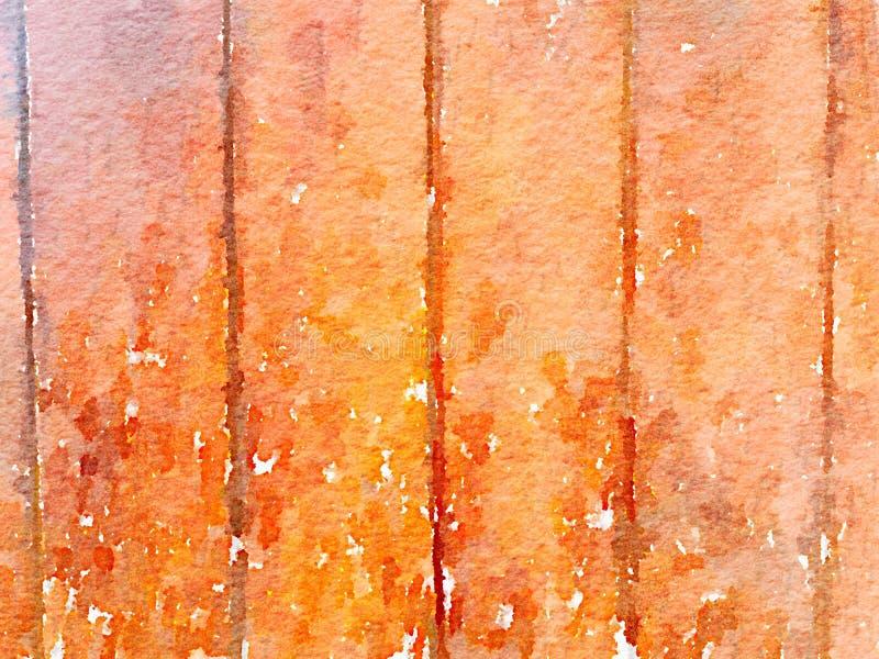 Fondo grungy molle dell'acquerello con struttura di legno del grano fotografia stock libera da diritti