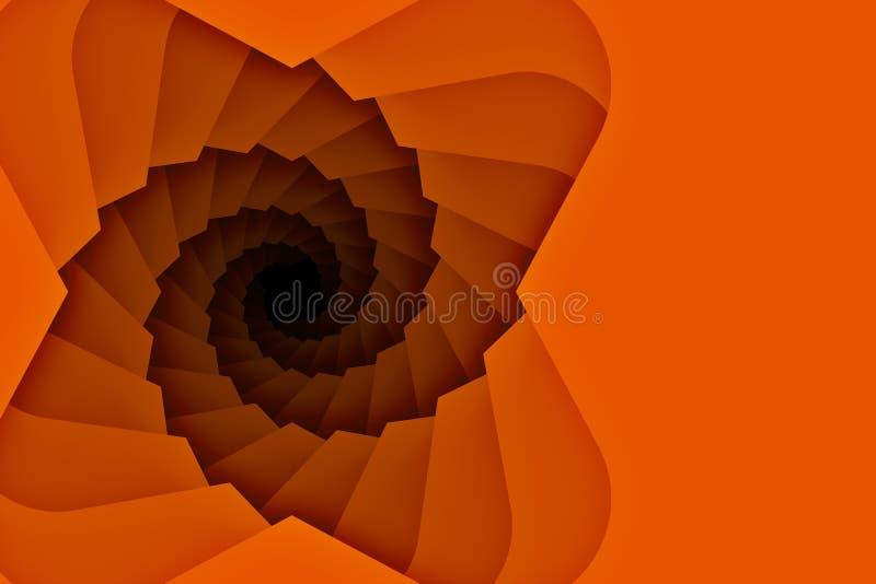 Fondo hacia abajo de la escalera del espiral con el espacio de la copia stock de ilustración