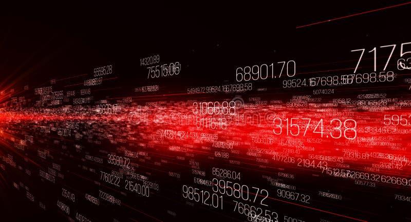 Fondo hecho de dígitos, movimiento de datos digitales ilustración del vector