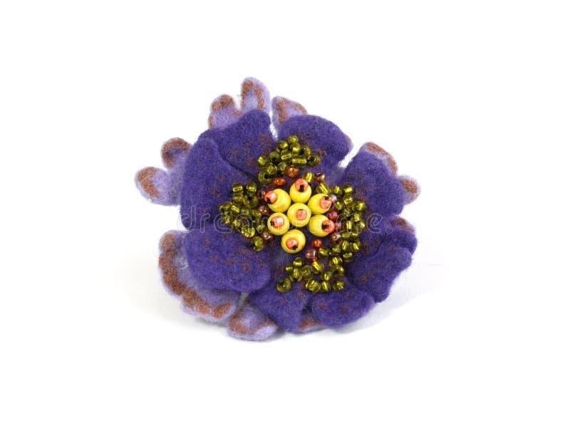 Fondo hecho a mano hermoso del blanco del ion de la flor imágenes de archivo libres de regalías
