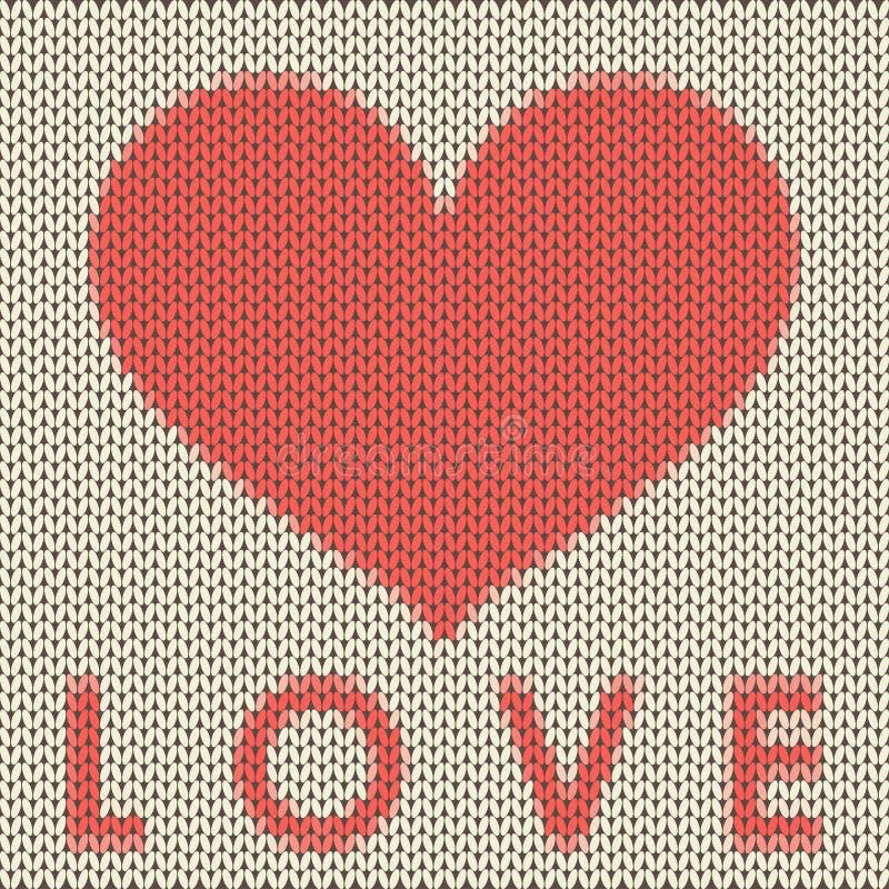 Fondo hecho punto del vector del amor stock de ilustración