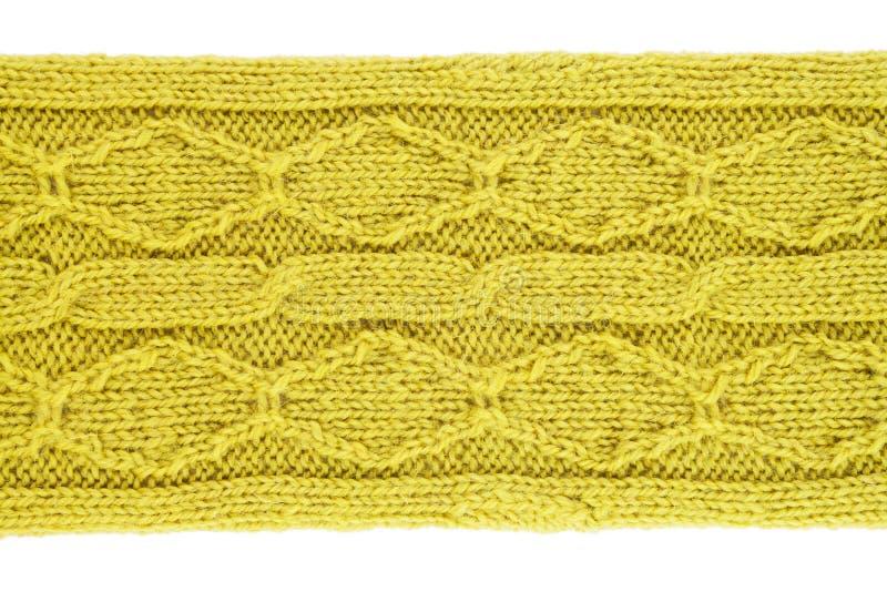 Fondo hecho punto lanas verdes imagen de archivo