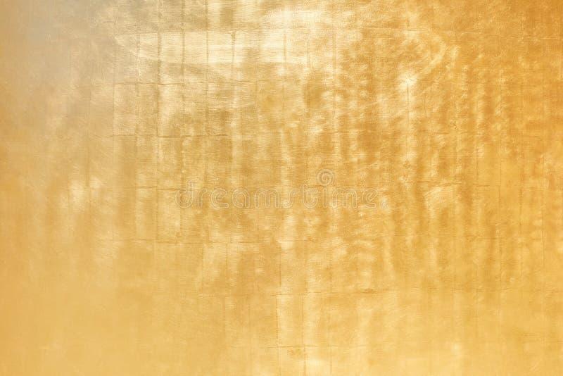 Fondo helado de oro de la textura del metal imagenes de archivo