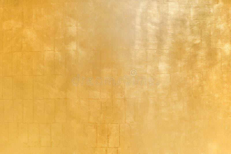 Fondo helado de oro de la textura del metal foto de archivo
