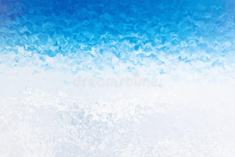 Fondo helado invierno de la ventana Helada y viento en el vidrio Ilustración imagenes de archivo