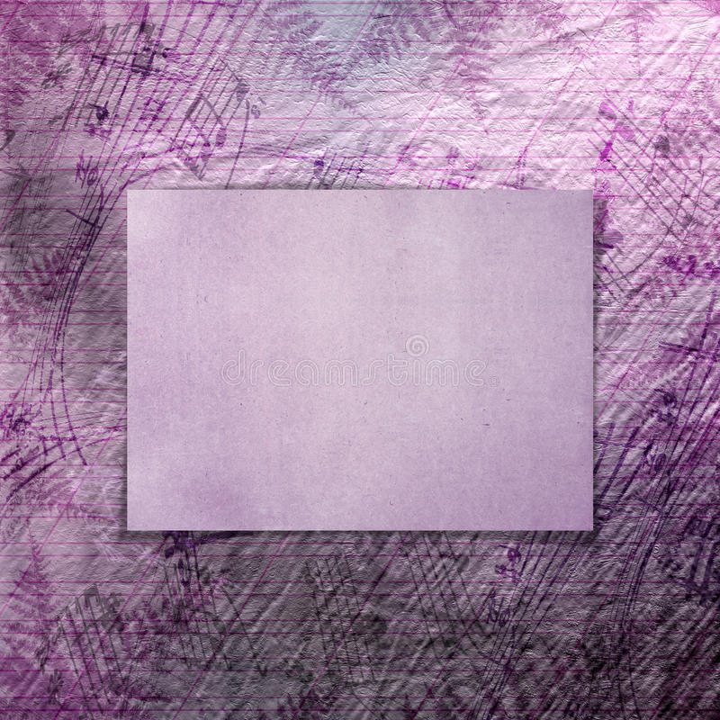 Fondo hermoso abstracto en el estilo de técnicas mixtas foto de archivo libre de regalías