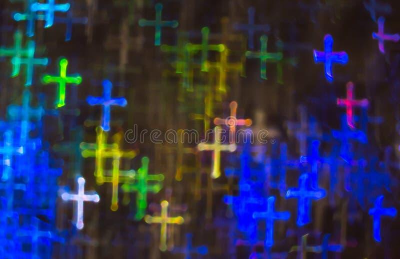 Fondo hermoso con diversa cruz coloreada, parte posterior abstracta imágenes de archivo libres de regalías