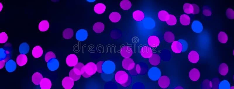 Fondo hermoso con rosa brillante y el lightse azul del bokeh imagenes de archivo