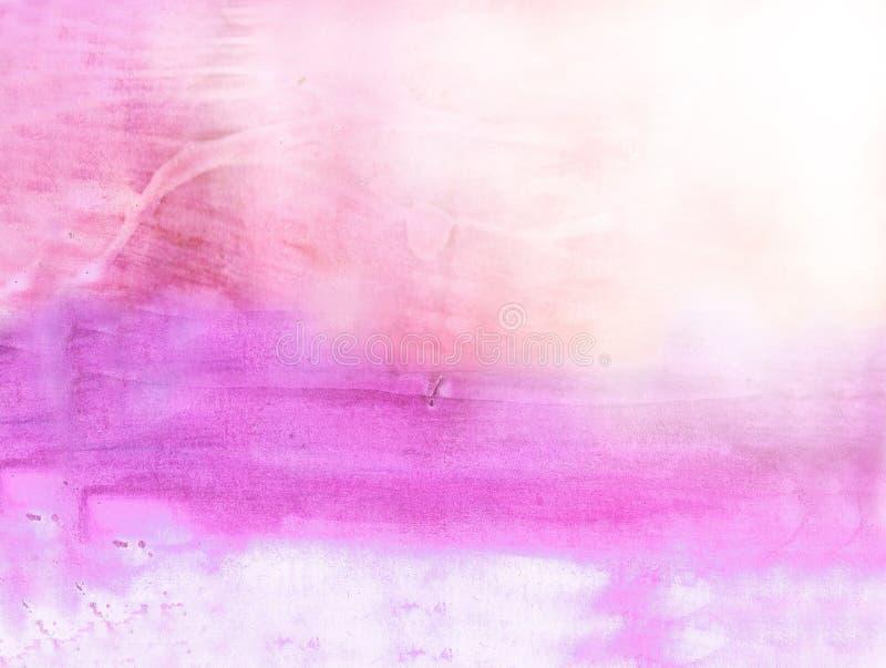 Fondo hermoso de la acuarela en suavemente color de rosa ilustración del vector