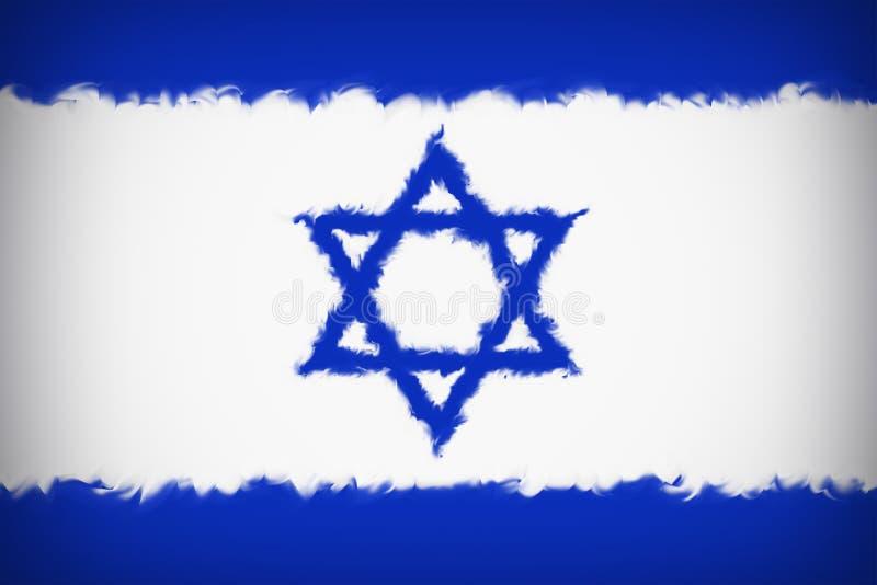 Fondo hermoso de la bandera del cierre de Israel para arriba ilustración del vector